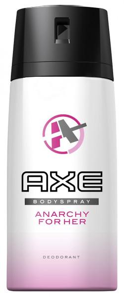3x Axe Deospray Anarchy Deodorant Bodyspray, for her je 150ml