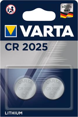 3 x 2er Pack VARTA 6025 CR2025 Lithium 3V Knopfzellen