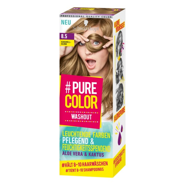Schwarzkopf Pure Color Washout 8.5 Karamell Blond Tönung