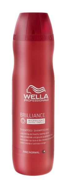 Wella Brilliance Shampoo für feines bis normales gefärbtes Haar 250ml