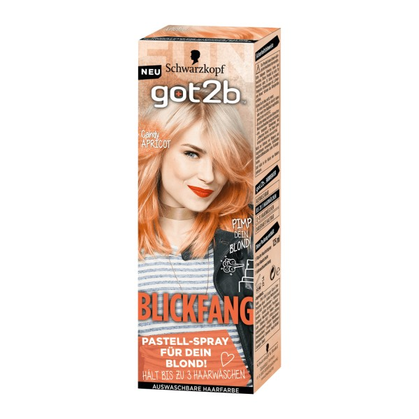 Schwarzkopf got2b Blickfang Candy Apricot 125ml Pastell Spray