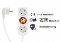 ARCAS 3-fach Steckdosenleiste 1,5 m Kabel mit Kindersicherung