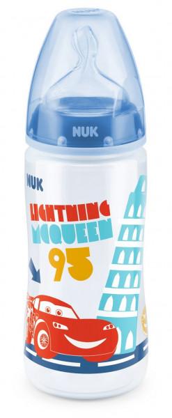 3x NUK First Choice Plus Babyflasche Disney Cars je 300ml 6-18m Blau