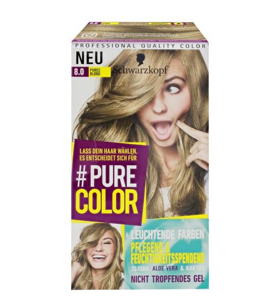 Schwarzkopf Pure Color 8.0 Pures Blond Gel Coloration Dauerhafte Haarfarbe