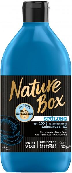 Nature Box Haar Spülung Mit Kokosnuss-Öl 385 ml Strapaziertes Haar