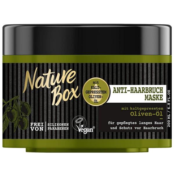 3 x Nature Box Anti-Haarbruch-Maske Oliven-Öl Kur je 200 ml