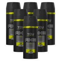 6 x Axe Deospray You ohne Aluminium Deodorant Bodyspray for him je 150 ml