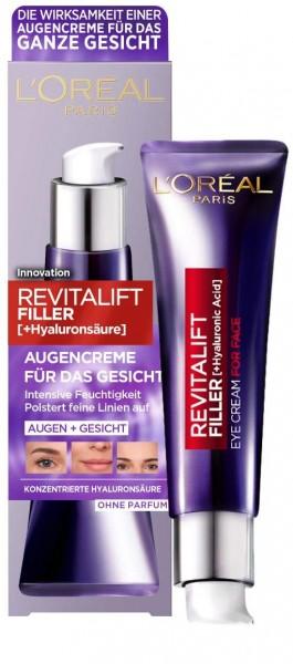 L\'Oréal Paris Revitalift Filler Hyaluron Augenpflege Augencreme für das Gesicht 30ml