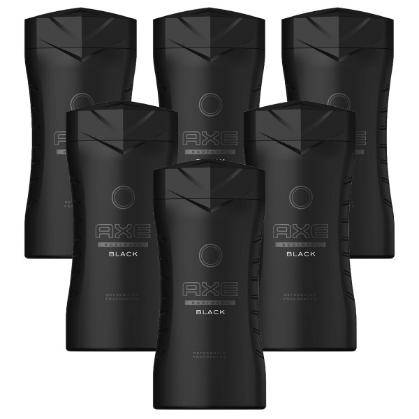 6x Axe Black Refreshing Showergel for men je 250ml