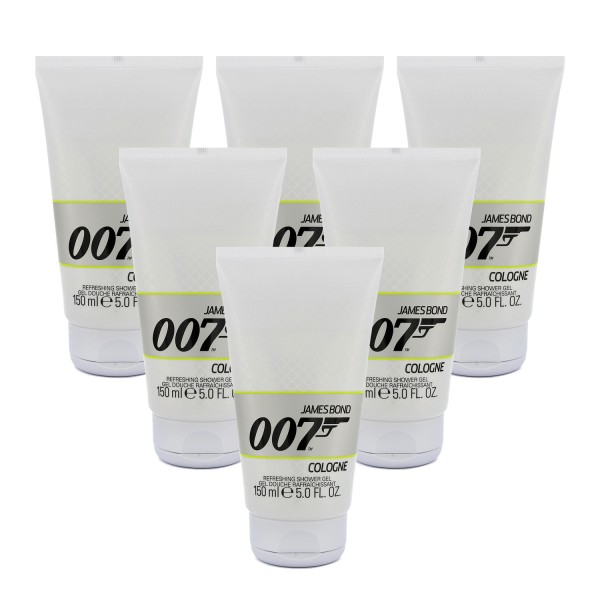 6x James Bond 007 Cologne Duschgel for men je 150ml Showergel