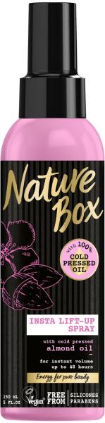 Nature Box Insta Lift-Up Spray mit 100% Kaltgepresstem Mandel-Öl 150ml