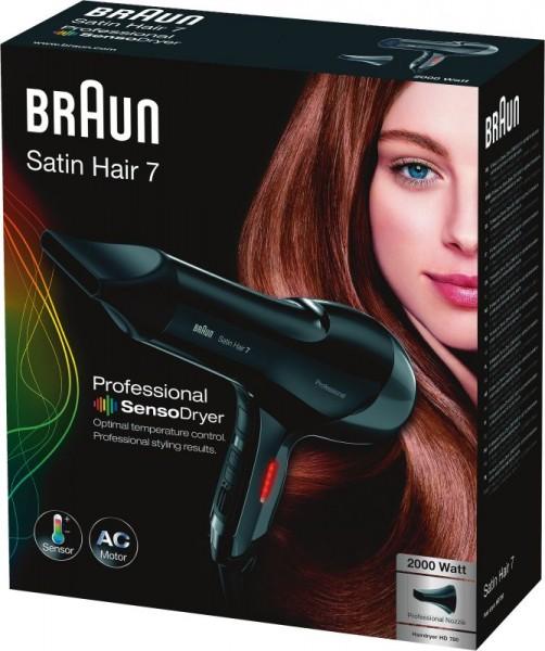 Braun Haartrockner Satin Hair 7 Senso Dryer HD780 UK Mit Thermosensor