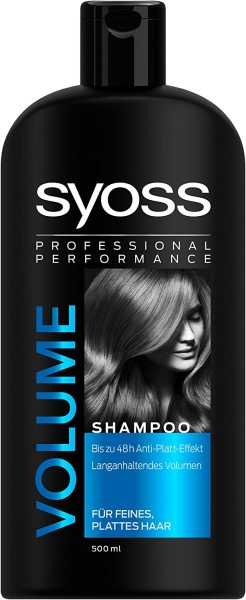 3 x SYOSS Professionals Volume Shampoo je 500ml Langanhaltendes Volumen