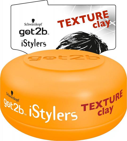 3x Schwarzkopf got2b iStylers Texture Clay Paste für die Haare je 75ml