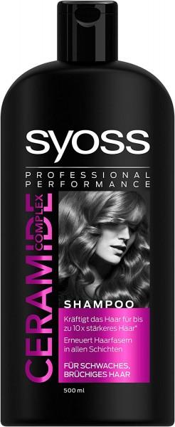 3x Syoss Ceramide Complex Shampoo je 500ml Schwaches Brüchiges Haar