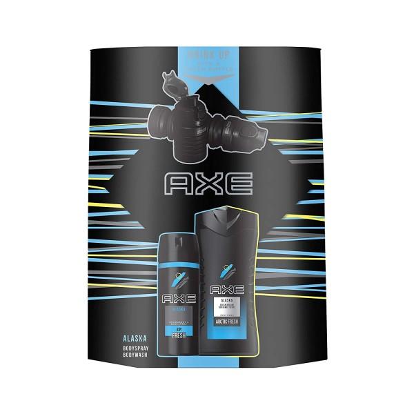 Axe Geschenkset Alaska Bodyspray 150ml & Duschgel 250ml & Wasserflasche