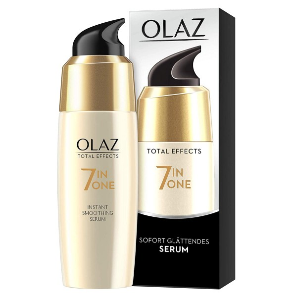 3 x Olaz Total Effects Anti-Aging 7-in-1 Sofort Glättendes Serum je 50ml
