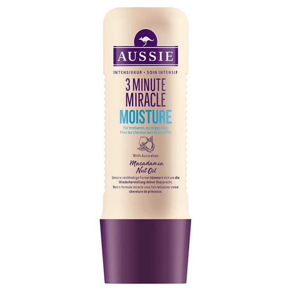 3 x Aussie 3 Minute Miracle Moist Intensivkur Für trockenes Haar 250ml each