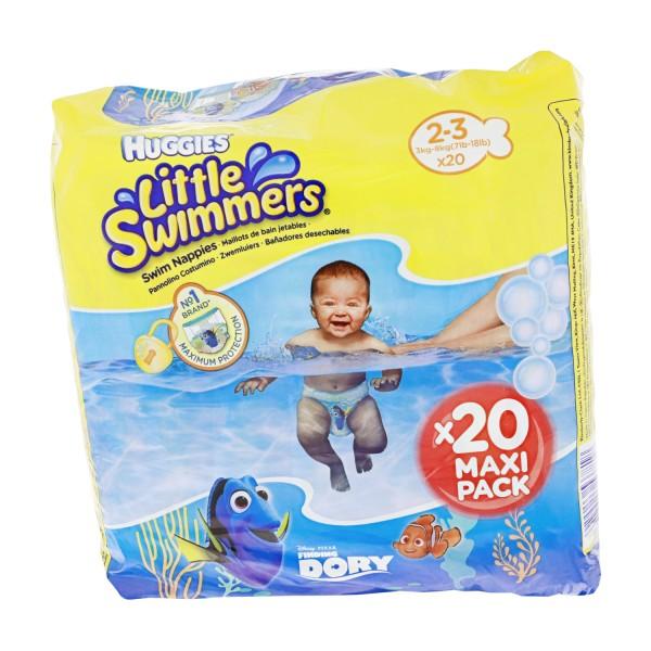 2 x 20 Stück Huggers Little Swimmers 3 bis 8 Kg Größe 23 Schwimmwindeln