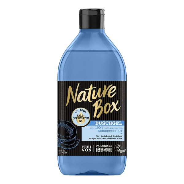 Nature Box Duschgel Kokosnuss-Öl 385ml belebend leichte Pflege Vegan