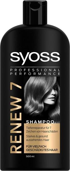 3x Syoss Renew 7 Shampoo je 500ml Für Vielfach Geschädigtes Haar