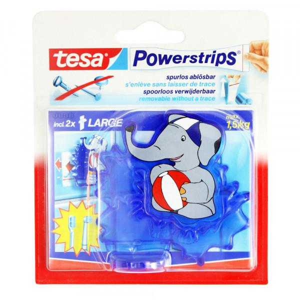 3x Tesa Powerstrips Zahnbürstenhalter Elefant incl. Powerstrips