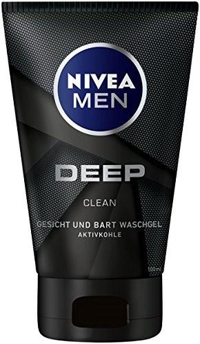 4x Nivea Men Deep Clean Gesicht und Bart Waschgel je 100 ml