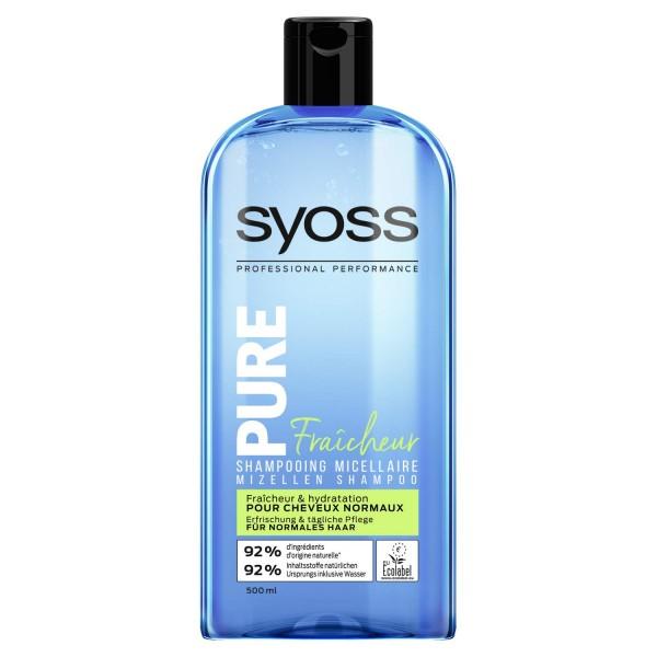 3x Syoss Mizellen Shampoo Pure Fresh normales Haar je 500ml