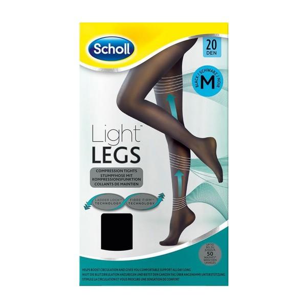 3 x Scholl Light Legs 20 DEN Größe M Schwarz Transparente Damen-Strumpfhose