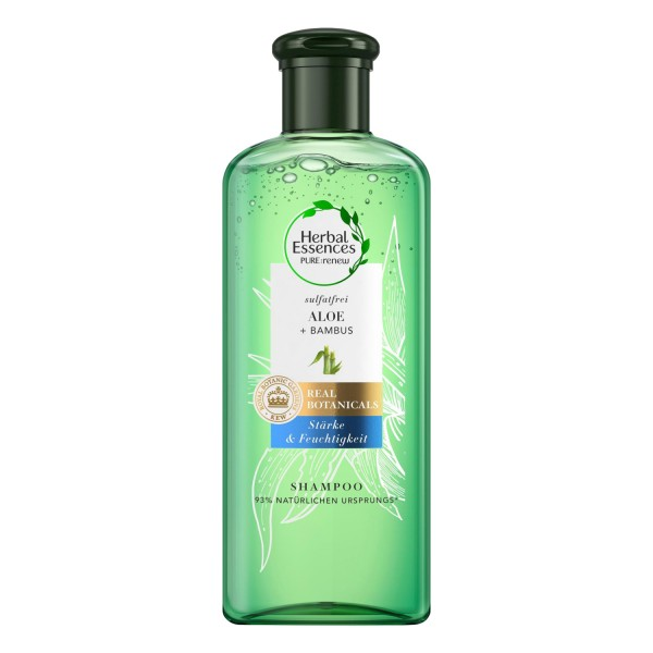 Herbal Essences PUR renew Aloe & Bambus Shampoo 225ml Stärke und Feuchtigkeit