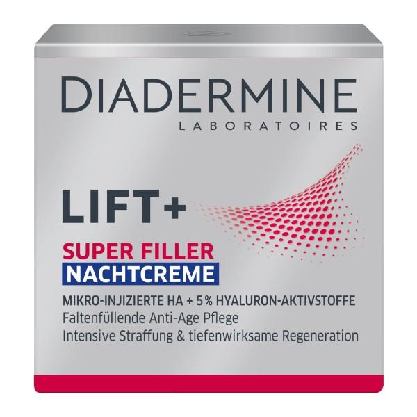 Diadermine LIFT+ Super Filler Nachtcreme Faltenfüllende Anti-Age Pflege 50ml