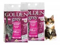 2 x Golden Grey Master fein Katzenstreu Klumpstreu je 14kg Babypuderduft + Silikat