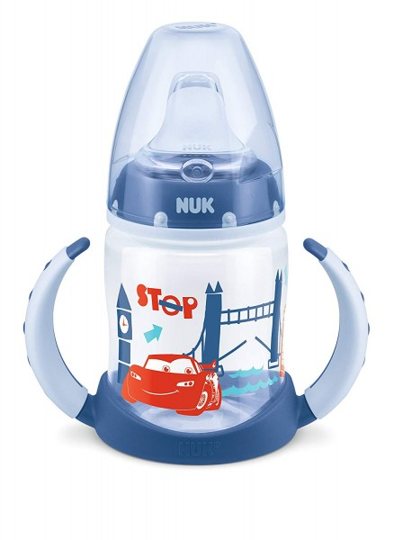 4x NUK Disney Cars First Choice Trinklernflasche je 150ml 6-18m