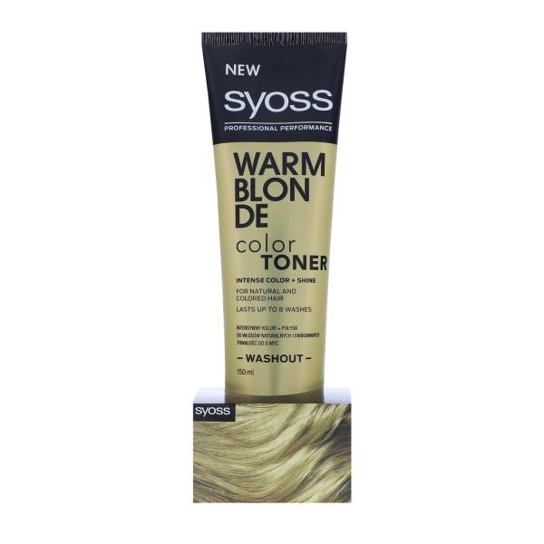 Syoss Hair Color Toner 150ml Washout Warm Blonde auswaschbare Haarfarbe
