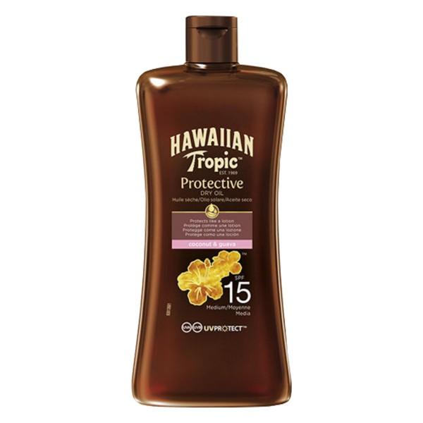 3 x Hawaiian Tropic Protective Dry Oil jeweils 100ml Sonnenöl LSF 15 mit tropischen Duft