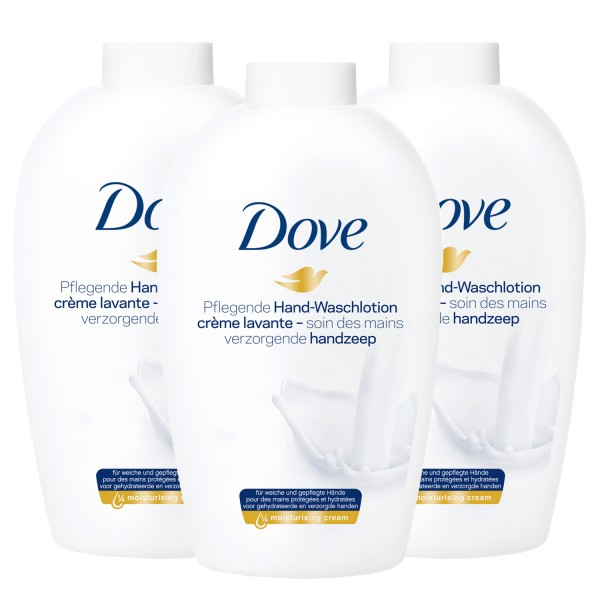 3 x Dove Hand-Waschlotion Nachfüller je 250ml