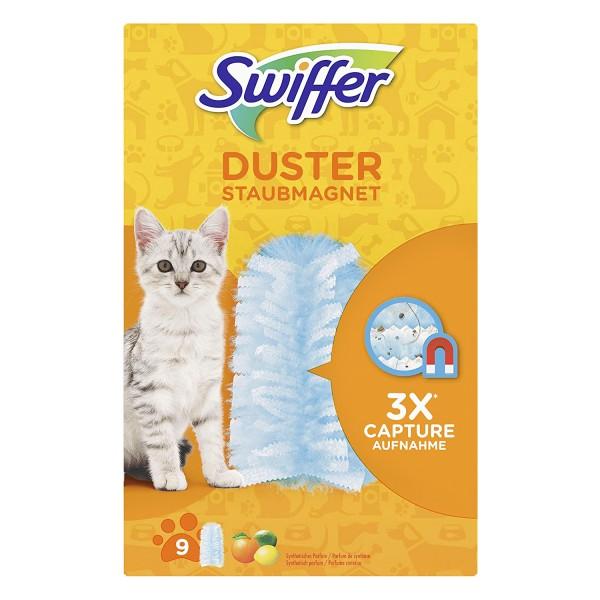 Swiffer Duster Staubmagnet 9 Stück ideal für Haustiere Staubentferner