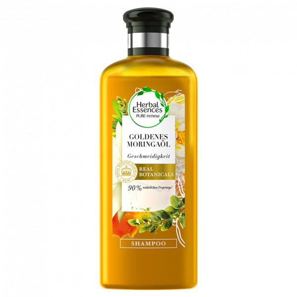 3er Pack Herbal Essences PURE renew Goldenes Moringaöl je 250ml