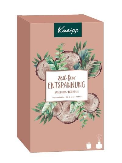 Kneipp Geschenkset Zeit für Entspannung Duftstäbchen 50ml + Duftkerze 145g Sandelholz Patchouli