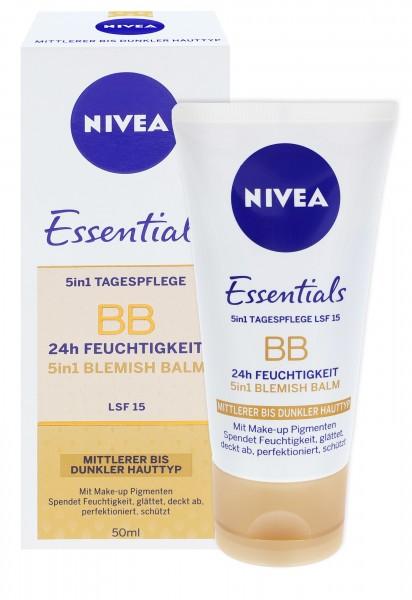 Nivea Essentials BB Cream 5in1 mittlerer bis dunkler Hauttyp 50ml