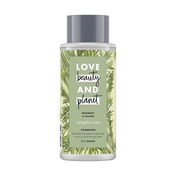 Love beauty & planet Shampoo Rosemary & Vetiver Silikonfrei Vegan 400ml