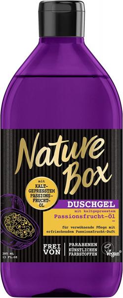 3 x Nature Box Duschgel kaltgepresstem Passionsfrucht-Öl je 385 ml Vegan