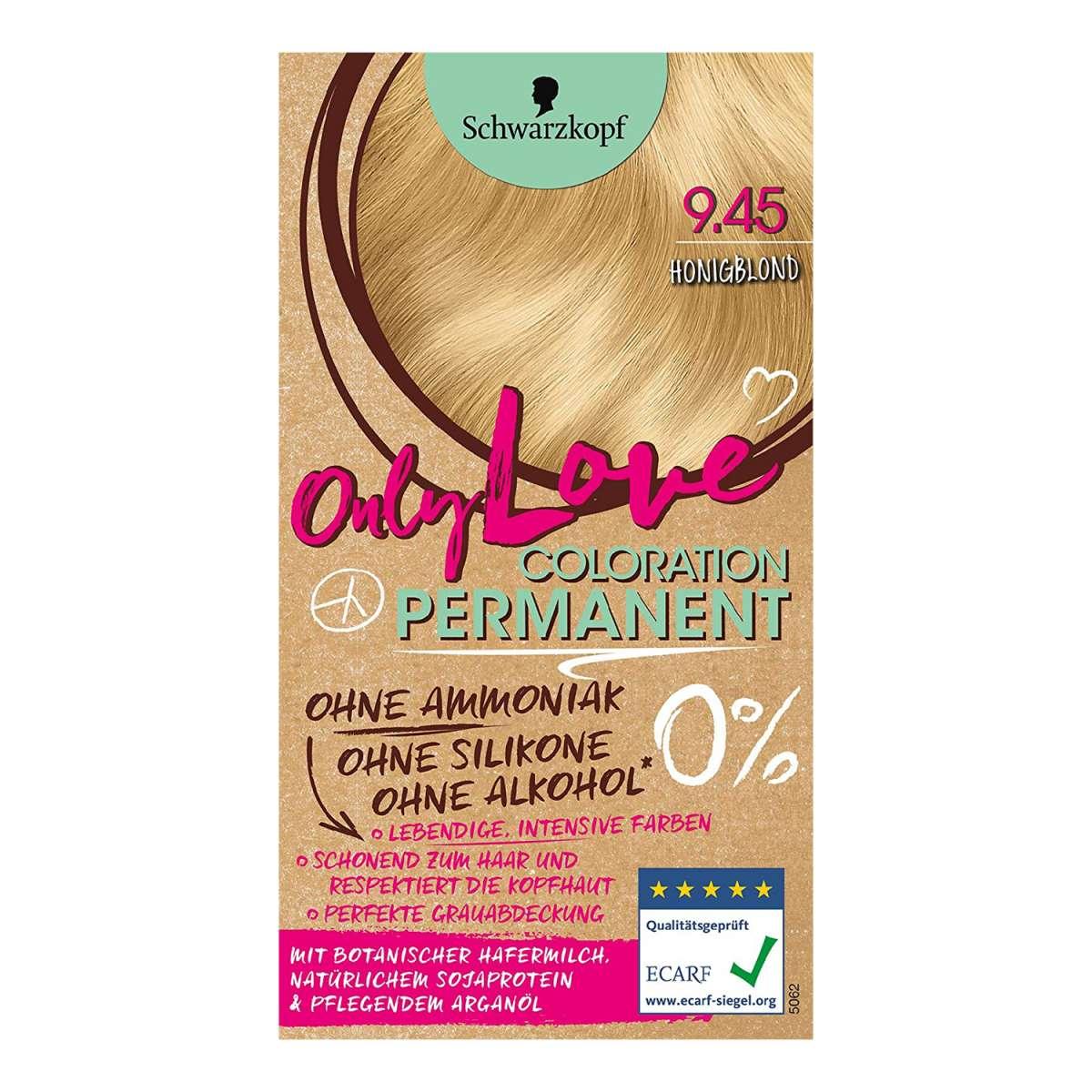 3x Schwarzkopf Only Love Haarfarbe 0% Ammoniak 9.45