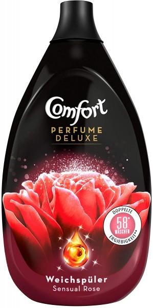 Comfort Perfume Deluxe Sensual Rose 870ml Weichspüler 58 Waschladungen