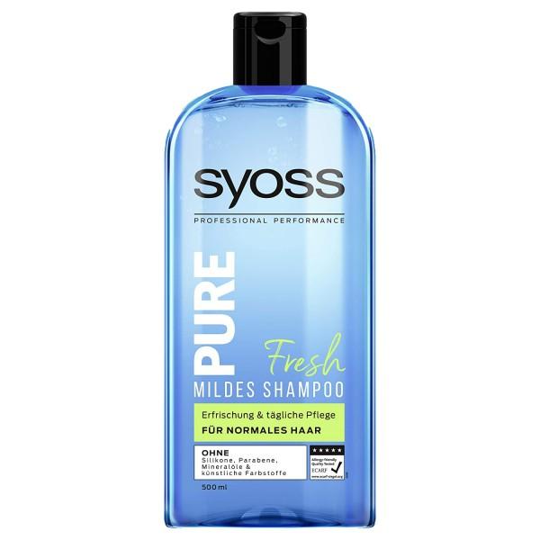 SYOSS Pure Fresh Mildes Shampoo 500ml für normales Haar