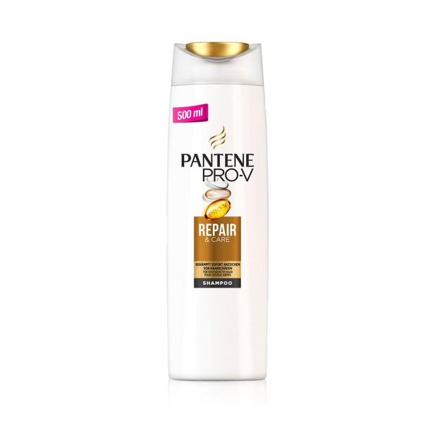 4 x Pantene Pro-V Shampoo Repair & Care jeweils 500ml