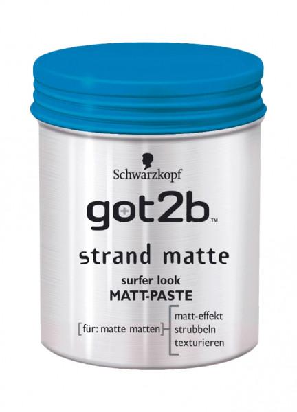 6x Schwarzkopf got2b strand matte Matt-Paste surfer look je 100ml
