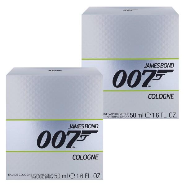 2x James Bond 007 Eau de Cologne Natural Spray je 50ml