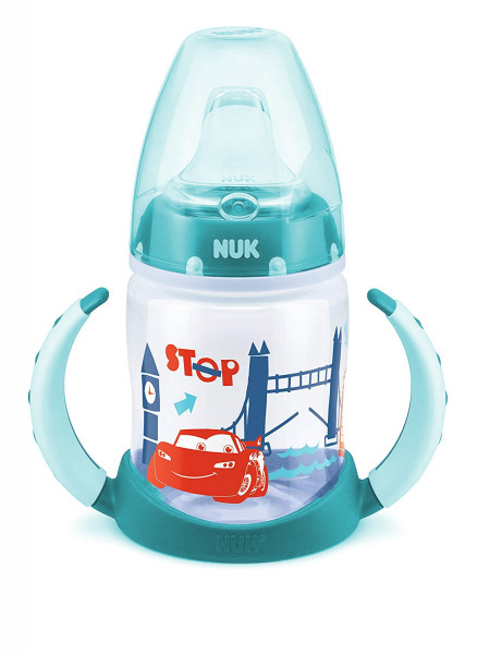 4x NUK Disney Cars First Choice Trinklernflasche je 150ml 6-18m türkis