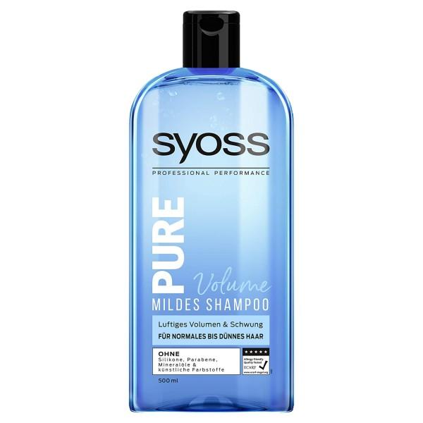 6 x SYOSS Shampoo Pure Volume jeweils 500ml für normales bis dünnes Haar